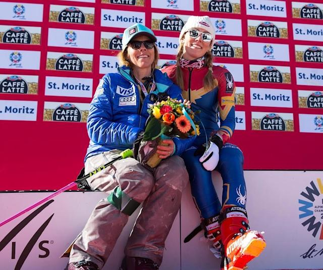 <p>Rising star Mikaela Shiffrin is photographed with her mother after winning another competition.(Instagram | @mikaelashiffrin ) </p>