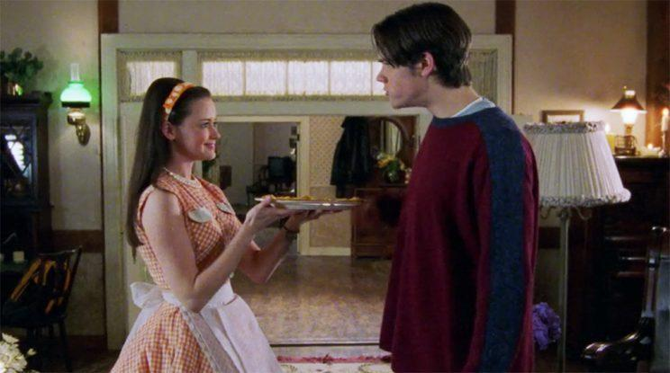 Alexis Bledel as Rory and Jared Padalecki as Dean (Credit: WB)