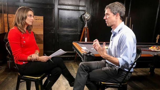PHOTO: ABC News' Paula Faris sits down with Texas Senate candidate Beto O'Rourke to discuss the midterm elections and other topics. (ABC News)