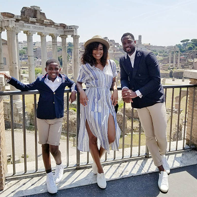 "<p>When in Rome… check out the Colosseum and be ""photoshoot fresh at the Forum."" (Photo: <a rel=""nofollow"" href=""https://www.instagram.com/p/BVcYooSg0lV/?taken-by=gabunion&hl=en"">Gabrielle Union via Instagram</a>) </p>"
