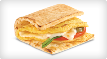 <p>Opt for an egg omelette with melted cheese on 3-inch flatbread to dramatically cut the sodium and fat content. <br> — Calories: 310 <br> — Fat: 11 g (Saturated Fat 3 g) <br> — Sodium: 590 mg <br> — Carbohydrates: 41 g <br> — Sugar: 2 g <br> — Source/Photo: Subway Canada </p>