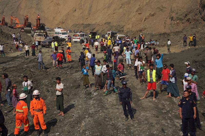 The disaster struck at a jade mine in Myanmar's northern Kachin state, killing 50 miners