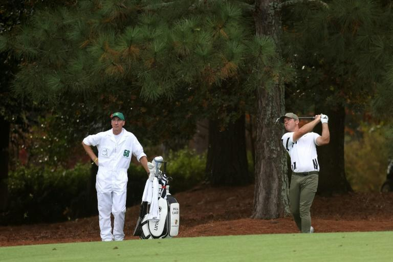 England's Paul Casey was in the clubhouse with a two-shot lead when darkness halted the first round of the Masters