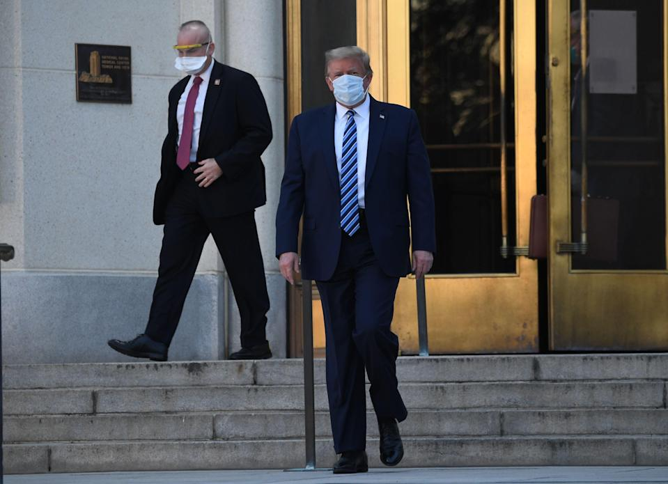 US president Donald Trump reportedly asked hospital staff to sign NDAs on previous visit (AFP via Getty Images)