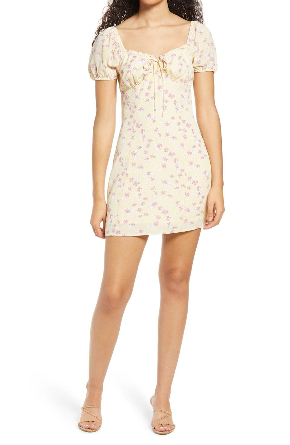 <p>This <span>All in Favor Floral Tie Front Minidress</span> ($20, originally $49) is a guaranteed crowd pleaser.</p>