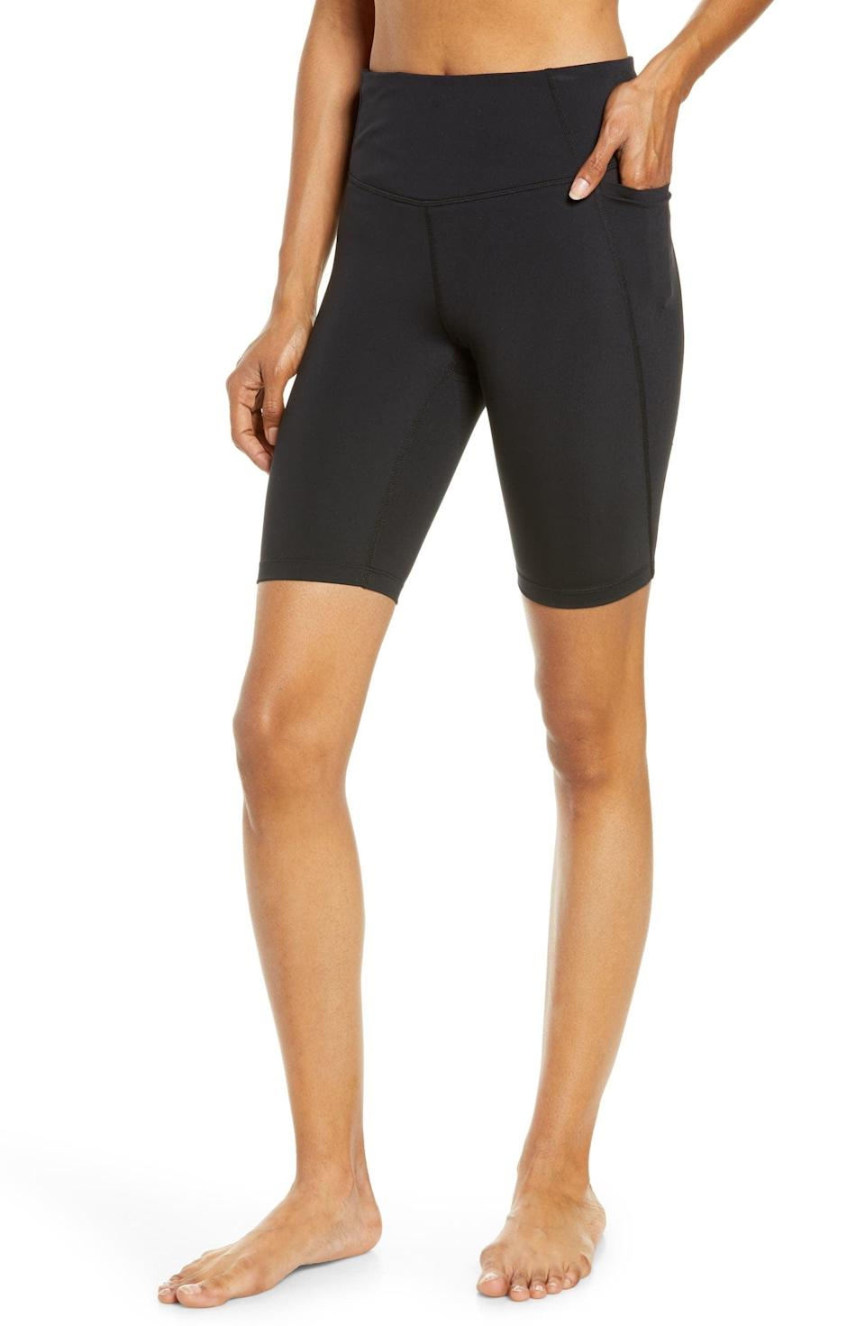 <p>These <span>Zella Studio Lite Pocket Bike Shorts</span> ($49) come in a bunch of vibrant colors, as well as basic black.</p>