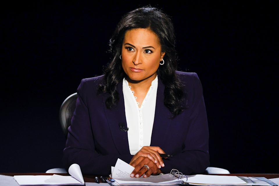 NBC News correspondent Kristen Welker moderated the final presidential debate at Belmont University in Nashville, Tennessee, on Thursday. (Photo: JIM BOURG via Getty Images)