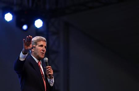 U.S. Secretary of State John Kerry speaks at the 1 Malaysia Entrepreneurs (1MET) launching ceremony in Kuala Lumpur