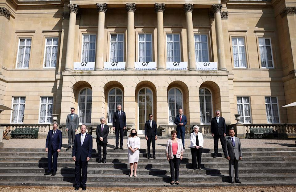 <p>The second day of the G7 Finance Ministers Meeting, at Lancaster House in London on June 5</p> (POOL/AFP via Getty Images)