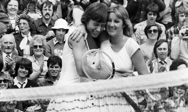 """<span class=""""element-image__caption"""">Martina Navratilova and Evert won 18 grand slam titles apiece as their rivalry dominated, and changed, women's tennis.</span> <span class=""""element-image__credit"""">Photograph: Rob Taggart/Getty Images</span>"""