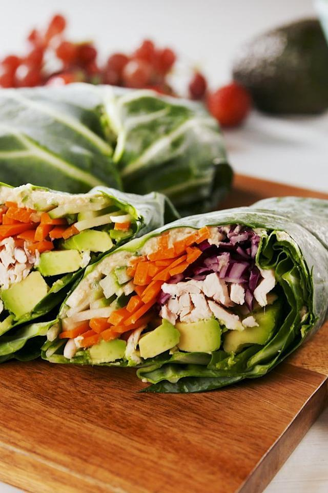 "<p>Love your greens? </p><p>Get the <a href=""https://www.delish.com/uk/cooking/recipes/a29947911/collard-wrap-bento-boxes-recipe/"" target=""_blank"">Spring Green Wrap</a> recipe. </p>"