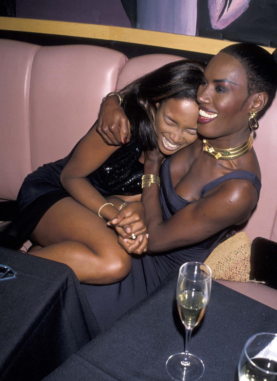 With Naomi Campbell, 1990
