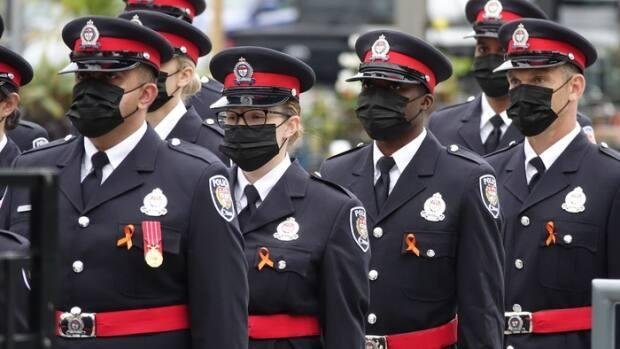 This 2020 recruit class was the most diverse in Ottawa police history. (Francis Ferland/CBC - image credit)