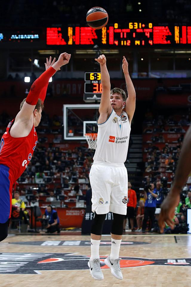 Basketball - EuroLeague Final Four Semi Final A - CSKA Moscow vs Real Madrid - ?Stark Arena?, Belgrade, Serbia - May 18, 2018 Real Madrid's Luka Doncic in action REUTERS/Alkis Konstantinidis