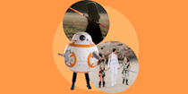 "<p>While you may not be <a href=""https://disneyparks.disney.go.com/blog/2019/06/dressing-the-part-bounding-for-your-visit-to-star-wars-galaxys-edge/"" rel=""nofollow noopener"" target=""_blank"" data-ylk=""slk:allowed to dress up as a Star Wars character"" class=""link rapid-noclick-resp"">allowed to dress up as a <em>Star Wars</em> character</a> while visiting Disney's newest land, <em><a href=""https://www.goodhousekeeping.com/life/travel/news/a43750/disney-star-wars-land-new-details/"" rel=""nofollow noopener"" target=""_blank"" data-ylk=""slk:Star Wars: Galaxy's Edge"" class=""link rapid-noclick-resp"">Star Wars: Galaxy's Edge</a></em>, you can do whatever you want on your home turf this Halloween. And with <em><a href=""https://go.redirectingat.com?id=74968X1596630&url=https%3A%2F%2Fwww.disneyplus.com%2Fmovies%2Fstar-wars-the-rise-of-skywalker-episode-ix%2F5e8JThYwCYgw&sref=https%3A%2F%2Fwww.goodhousekeeping.com%2Fholidays%2Fhalloween-ideas%2Fg4560%2Fstar-wars-halloween-costumes%2F"" rel=""nofollow noopener"" target=""_blank"" data-ylk=""slk:Star Wars Episode IX: The Rise of Skywalker"" class=""link rapid-noclick-resp"">Star Wars Episode IX: The Rise of Skywalker</a></em> and all the other films plus <em><a href=""https://go.redirectingat.com?id=74968X1596630&url=https%3A%2F%2Fwww.disneyplus.com%2Fseries%2Fthe-mandalorian%2F3jLIGMDYINqD&sref=https%3A%2F%2Fwww.goodhousekeeping.com%2Fholidays%2Fhalloween-ideas%2Fg4560%2Fstar-wars-halloween-costumes%2F"" rel=""nofollow noopener"" target=""_blank"" data-ylk=""slk:The Mandalorian"" class=""link rapid-noclick-resp"">The Mandalorian</a></em> always available on <a href=""https://go.redirectingat.com?id=74968X1596630&url=https%3A%2F%2Fwww.disneyplus.com%2F&sref=https%3A%2F%2Fwww.goodhousekeeping.com%2Fholidays%2Fhalloween-ideas%2Fg4560%2Fstar-wars-halloween-costumes%2F"" rel=""nofollow noopener"" target=""_blank"" data-ylk=""slk:Disney+"" class=""link rapid-noclick-resp"">Disney+</a>, your house can be full of <em>Star Wars</em> whether there's a new movie coming out this year or not. Time to find an outfit from a long time ago in a galaxy far, far away and choose your <em>Star Wars</em> Halloween costume</p><p>Will you go classic, suiting up in a Storm Trooper or Darth Vader costume? Or opt to go trick-or-treating in a costume inspired by a more recent episode, like Kylo Ren or Rey? Or perhaps you're still a fan of the prequel trilogy? (We <em>do</em> exist!) With so many iconic characters, you have lots of options when it comes to picking a costume that reflects the <em>Star Wars</em> film you love most. And no matter what path you take, the Force will be with you this Halloween. Here are some of our favorite <em>Star Wars</em> Halloween costume ideas <a href=""https://www.goodhousekeeping.com/holidays/halloween-ideas/g28106766/family-halloween-costumes/"" rel=""nofollow noopener"" target=""_blank"" data-ylk=""slk:for the whole family"" class=""link rapid-noclick-resp"">for the whole family</a>.</p>"