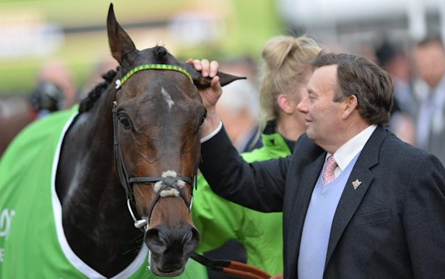 <span>Nicky Henderson's high point of the season was Buveur d'Air winning the Champion Hurdle</span> <span>Credit: rex </span>