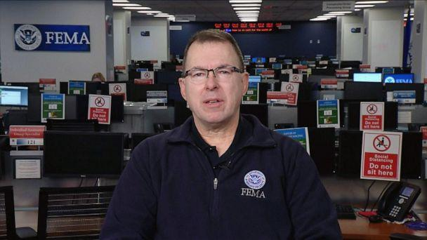 PHOTO: Federal Emergency Management Agency Administrator Peter Gaynor appears on 'Good Morning America,' March 24, 2020. (ABC News)