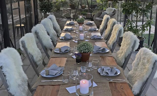 "<div class=""caption""> A scene from our farm-to-table dinner in Tara Iti's garden </div>"