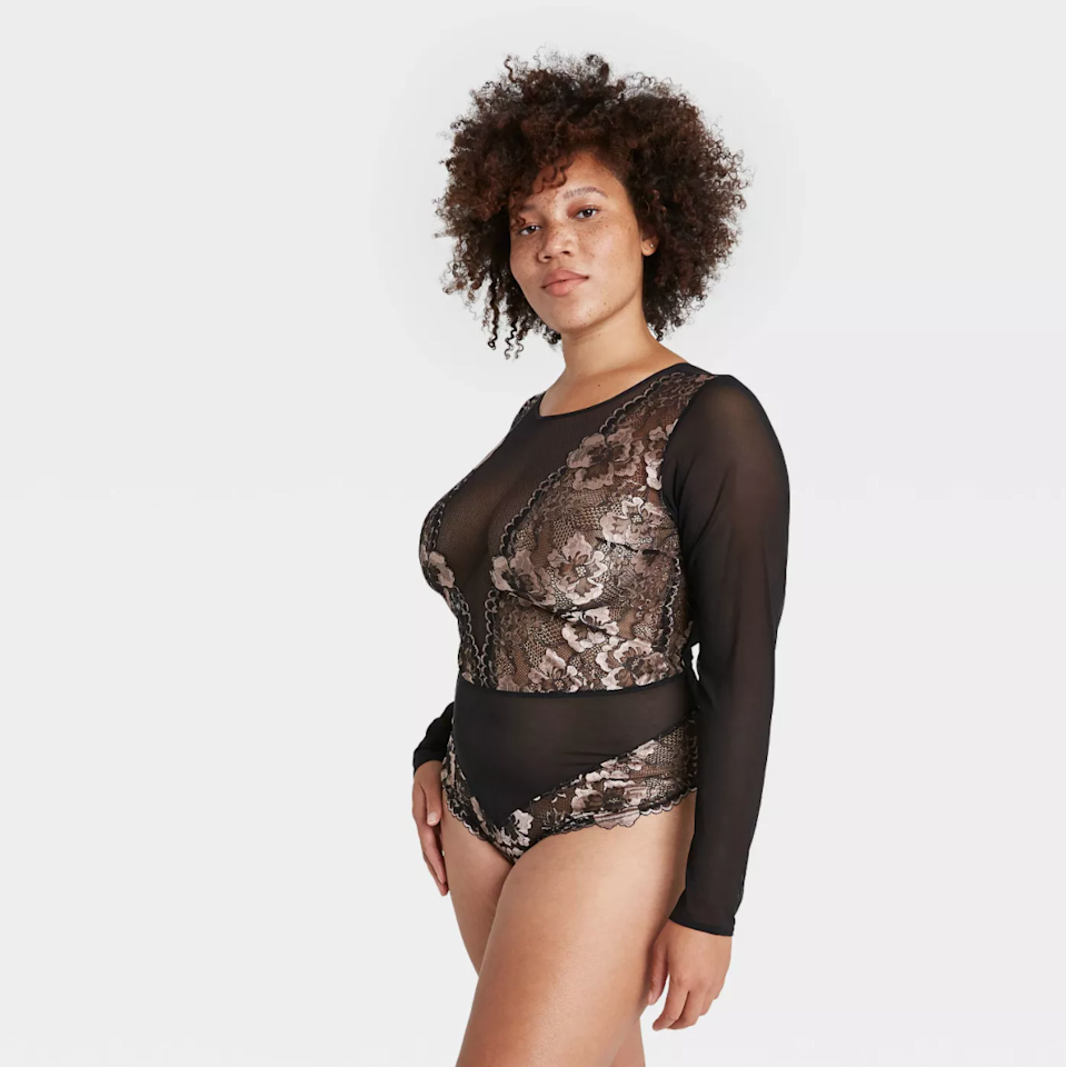 """<h2>Target</h2><br><strong>Price range:</strong> Varies by brand<br><strong>Sizes available:</strong> XS - 4X<br><br>Not only does the chic-but-accessible department store offer beloved in-house lingerie labels like Colsie and Auden, it also stocks custom collections from customer-approved DTC brands like <a href=""""http://goto.target.com/YgDARR"""" rel=""""nofollow noopener"""" target=""""_blank"""" data-ylk=""""slk:Lively"""" class=""""link rapid-noclick-resp"""">Lively</a> and <a href=""""http://goto.target.com/x9EKL5"""" rel=""""nofollow noopener"""" target=""""_blank"""" data-ylk=""""slk:True & Co"""" class=""""link rapid-noclick-resp"""">True & Co</a> and undies from high-end imprints like Journelle, Natori, and OnGossamer. And before you write <em>Tarj</em> off as a destination for comfy-womfy loungables only, check their <a href=""""http://goto.target.com/e4v0nj"""" rel=""""nofollow noopener"""" target=""""_blank"""" data-ylk=""""slk:lingerie"""" class=""""link rapid-noclick-resp"""">lingerie</a> section — there's plenty of colorful, lace-adorned separates suited for a steamy night in<em>.</em><br><br><em>Shop <strong><a href=""""http://goto.target.com/Jrb6kE"""" rel=""""nofollow noopener"""" target=""""_blank"""" data-ylk=""""slk:Target"""" class=""""link rapid-noclick-resp"""">Target</a></strong></em><br><br><strong>Auden</strong> Long Sleeve Bodysuit, $, available at <a href=""""https://go.skimresources.com/?id=30283X879131&url=https%3A%2F%2Fgoto.target.com%2FjWX72M"""" rel=""""nofollow noopener"""" target=""""_blank"""" data-ylk=""""slk:Target"""" class=""""link rapid-noclick-resp"""">Target</a>"""