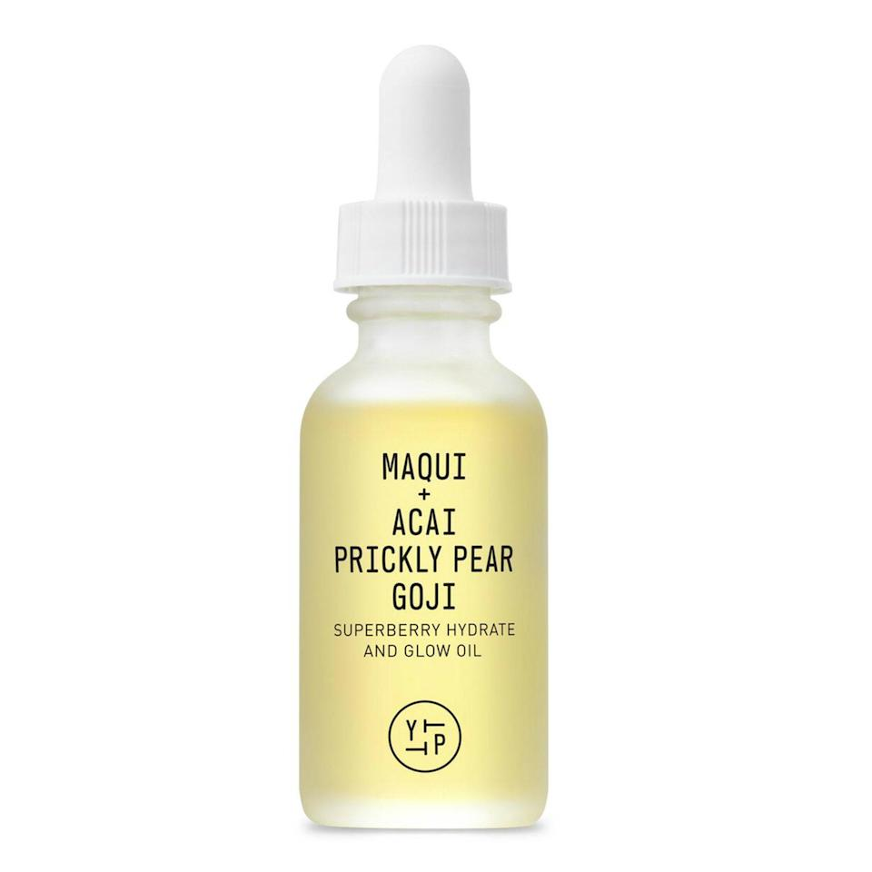 "<p>The superfoods packed into Youth to the People's Superberry Hydrate + Glow Oil — maqui, açaí, and goji — read like the beginning of a delicious smoothie, but when applied topically, the antioxidant-packed ingredients also leave skin feeling soft, radiant, and moisturized.</p> <p><strong>$44</strong> (<a href=""https://shop-links.co/1661979782560569643"" rel=""nofollow noopener"" target=""_blank"" data-ylk=""slk:Shop Now"" class=""link rapid-noclick-resp"">Shop Now</a>)</p>"