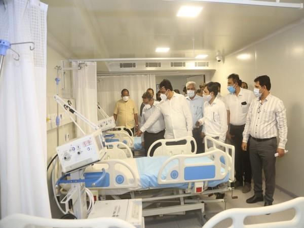 Deputy Chief Minister of Karnataka CN Ashwatha Narayana visiting the KC General Hospital at Malleshwaram to inspect the units.