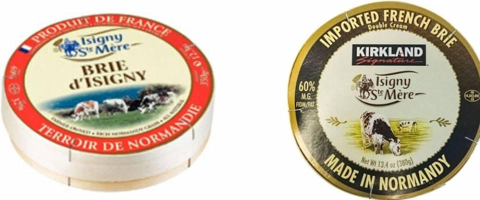 Isigny Ste Mere brie and Kirkland Signature Isigny Ste Mere brie