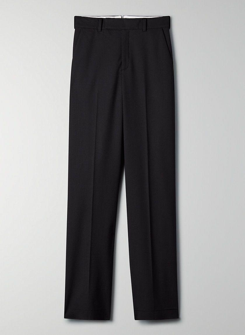 "<p><strong>Babaton</strong></p><p>aritzia.com</p><p><strong>$168.00</strong></p><p><a href=""https://www.aritzia.com/us/en/product/agency-pant/74006.html"" rel=""nofollow noopener"" target=""_blank"" data-ylk=""slk:SHOP IT"" class=""link rapid-noclick-resp"">SHOP IT</a></p><p>Give these trousers a more casual feel by styling them with sneakers and a white t-shirt. </p>"