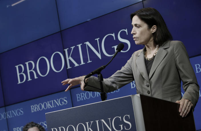 "Hill speaks at an ""Armenians and the Legacies of World War I"" event hosted by the Brookings Institution on May 13, 2015, in Washington, D.C. (Photo: Sharon Farmer/sfphotoworks/Brookings Institution)"