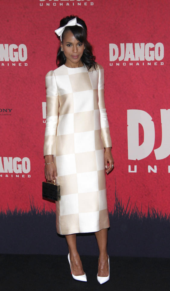 BERLIN, GERMANY - JANUARY 08:  Actress Kerry Washington attends the 'Django Unchained' Berlin Photocall at Hotel de Rome on January 8, 2013 in Berlin, Germany.  (Photo by Anita Bugge/WireImage)