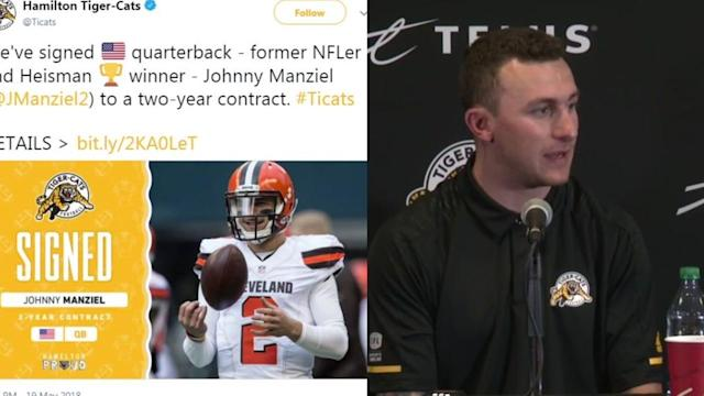 Heisman Trophy winner Johnny Manziel is heading to the Canadian Football League, looking to salvage his football career.