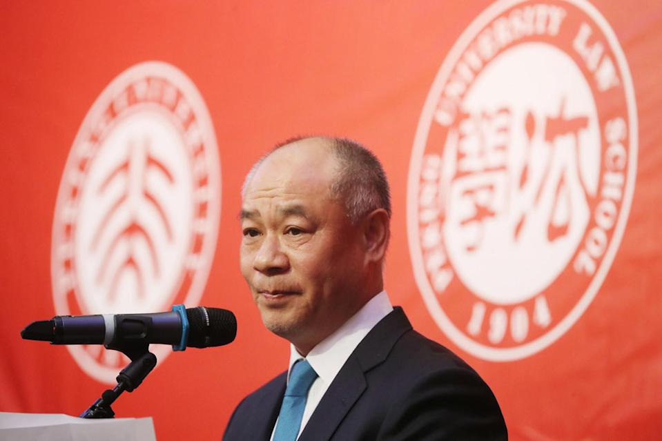 Li Ning, a former Olympic gymnast and the company's executive chairman and joint chief executive, says consumption sentiment in mainland China has improved gradually. Photo: Edward Wong