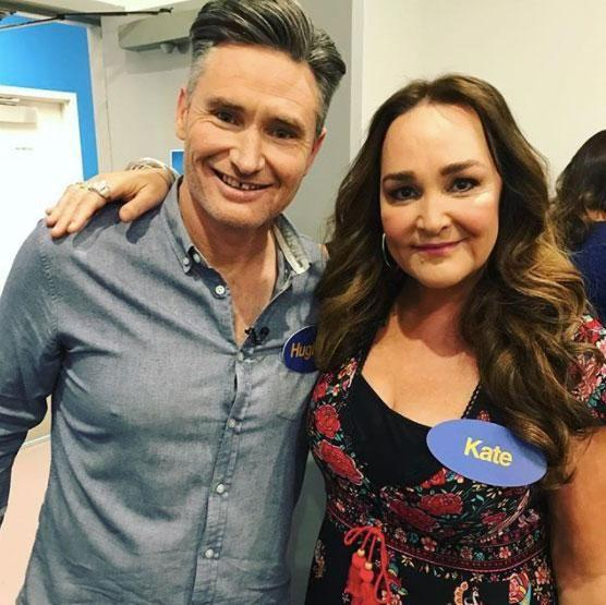 Kate (pictured with radio co-host Dave Hughes) shared an on-air account of a terrifying alleged assault outside her home. Source: Instagram