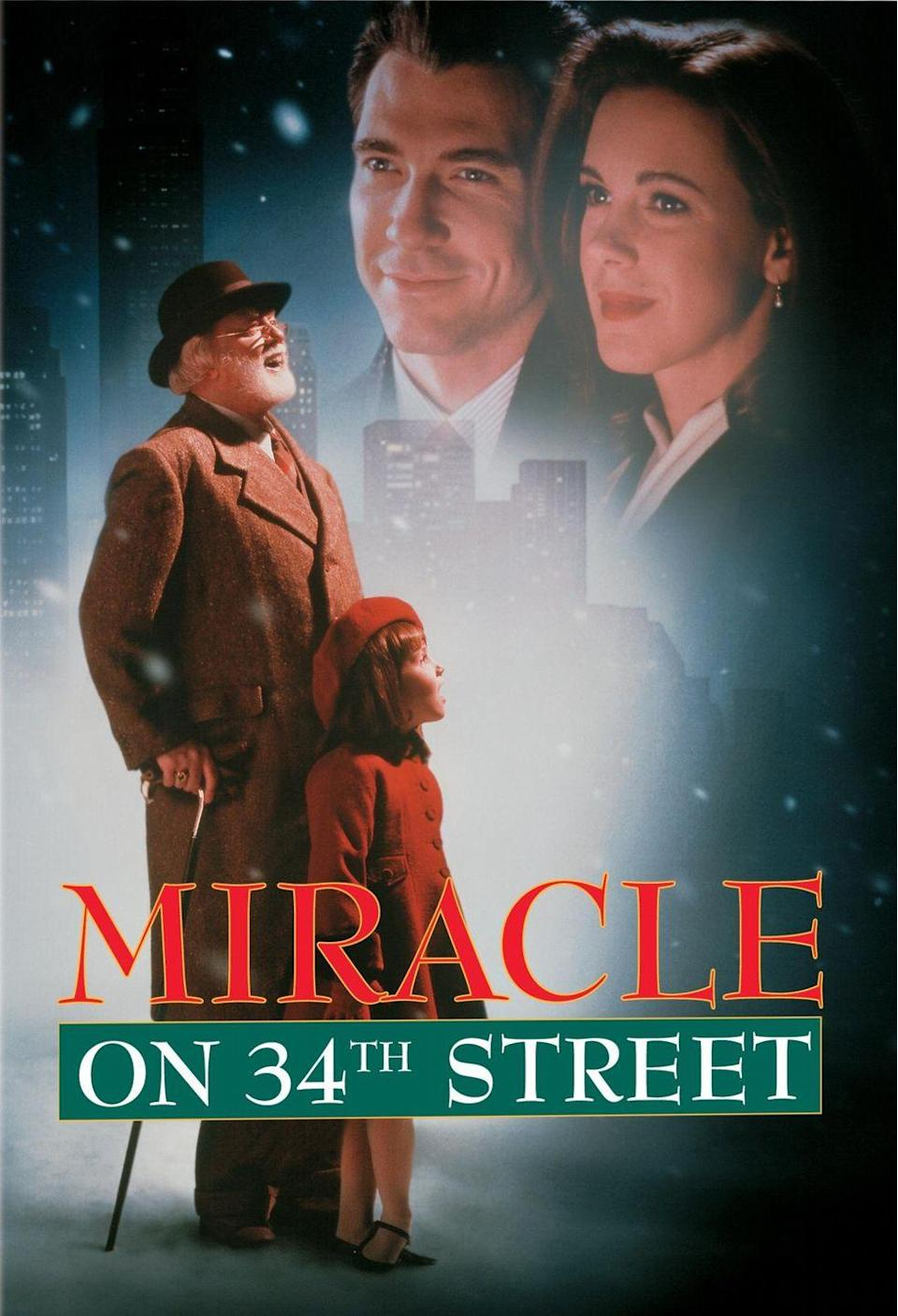 """<p>This 1994 version of the classic film, starring Richard Attenborough as Kris Kringle, is an excellent reimagining of the 1947 original.</p><p><a class=""""link rapid-noclick-resp"""" href=""""https://www.amazon.com/Miracle-34th-Street-Richard-Attenborough/dp/B000SW16LC/?tag=syn-yahoo-20&ascsubtag=%5Bartid%7C10055.g.1315%5Bsrc%7Cyahoo-us"""" rel=""""nofollow noopener"""" target=""""_blank"""" data-ylk=""""slk:WATCH NOW"""">WATCH NOW</a></p>"""