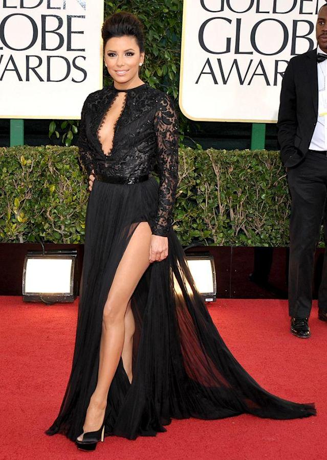 <p>Shorties can show serious leg too! The 5-foot-2 actress channeled her inner supermodel to show off her pins at the 2013 Golden Globes. (Photo: John Shearer/Invision/AP) </p>