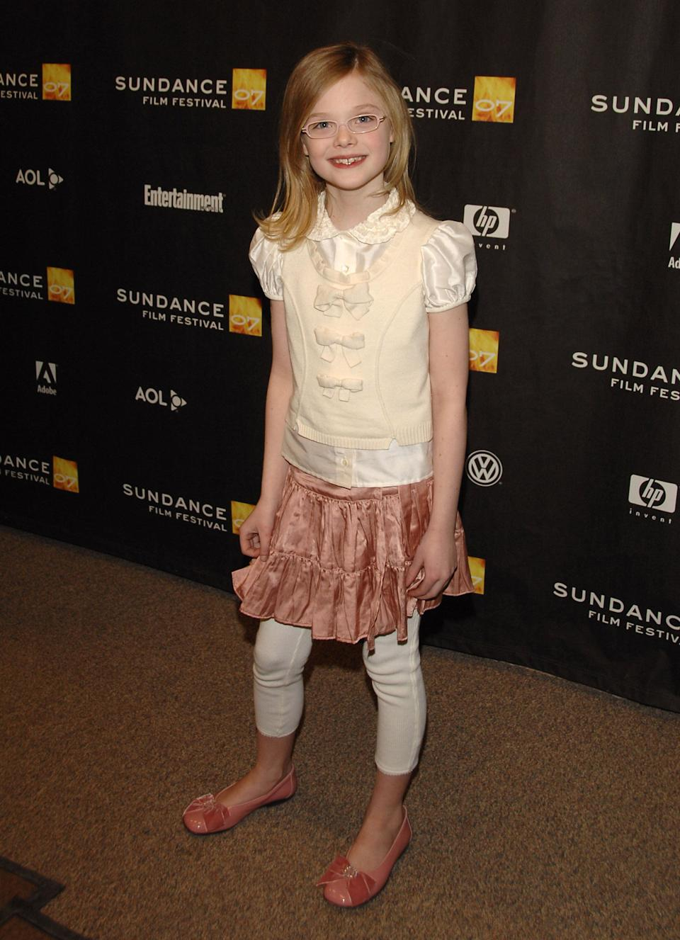 "Fanning at the Sundance Film Festival premiere of ""The Nines"" at Eccles Theatre in Park City, Utah."