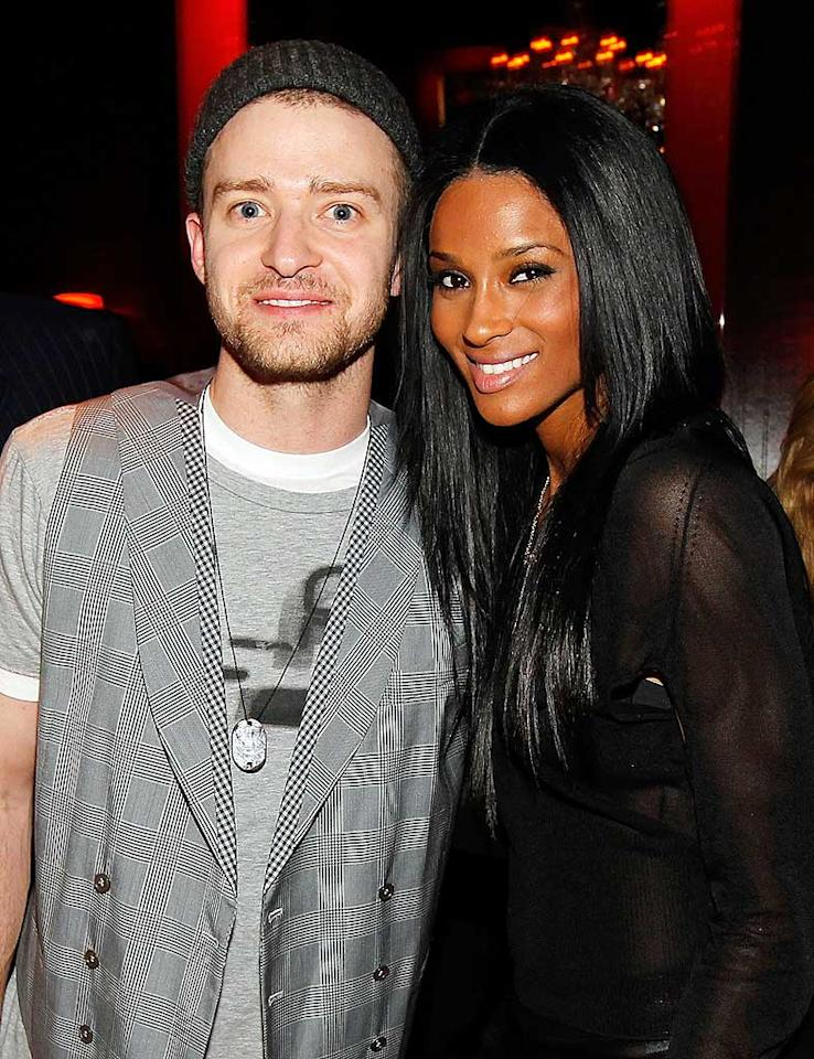 "Justin Timberlake teamed up with his ""Love Sex Magic"" collaborator Ciara to help uber-producer Timbaland celebrate his birthday at Drai's Hollywood Wednesday night. Christopher Polk/<a href=""http://www.wireimage.com"" target=""new"">WireImage.com</a> - April 28, 2010"