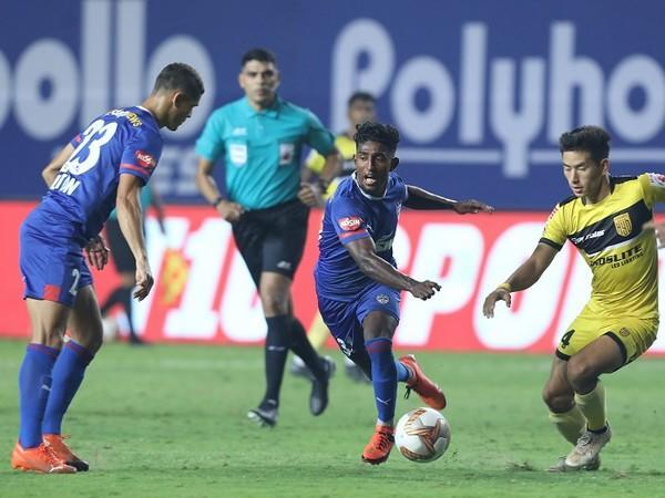 Leon Augustine in his first start of the season had doubled BFC's lead (Image: ISL)