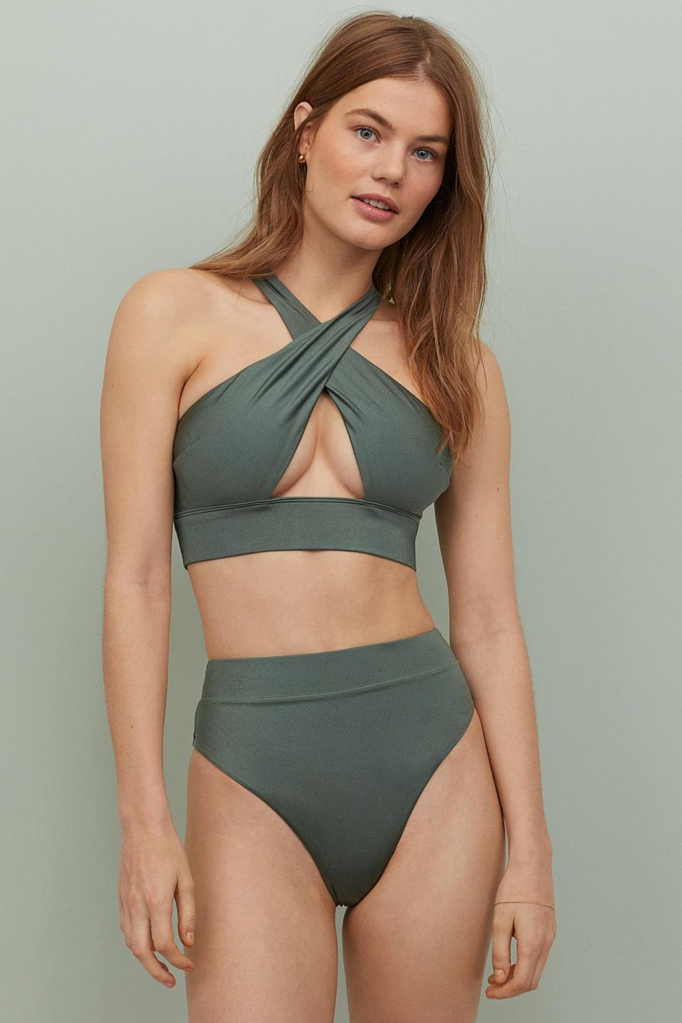 "<p>Show off in this <a href=""https://www.popsugar.com/buy/HampM-Bikini-Top-552789?p_name=H%26amp%3BM%20Bikini%20Top&retailer=www2.hm.com&pid=552789&price=20&evar1=fab%3Auk&evar9=47287039&evar98=https%3A%2F%2Fwww.popsugar.com%2Ffashion%2Fphoto-gallery%2F47287039%2Fimage%2F47287085%2FHM-Bikini-Top-Brazilian-Bikini-Bottoms&list1=bikini%2Cshopping%2Cproducts%20under%20%24100%2Cswimsuits&prop13=api&pdata=1"" class=""link rapid-noclick-resp"" rel=""nofollow noopener"" target=""_blank"" data-ylk=""slk:H&M Bikini Top"">H&M Bikini Top</a> ($20) and <a href=""https://www.popsugar.com/buy/Brazilian-Bikini-Bottoms-552813?p_name=%20Brazilian%20Bikini%20Bottoms&retailer=www2.hm.com&pid=552813&price=18&evar1=fab%3Auk&evar9=47287039&evar98=https%3A%2F%2Fwww.popsugar.com%2Ffashion%2Fphoto-gallery%2F47287039%2Fimage%2F47287085%2FHM-Bikini-Top-Brazilian-Bikini-Bottoms&list1=bikini%2Cshopping%2Cproducts%20under%20%24100%2Cswimsuits&prop13=api&pdata=1"" class=""link rapid-noclick-resp"" rel=""nofollow noopener"" target=""_blank"" data-ylk=""slk:Brazilian Bikini Bottoms""> Brazilian Bikini Bottoms</a> ($18) set.</p>"