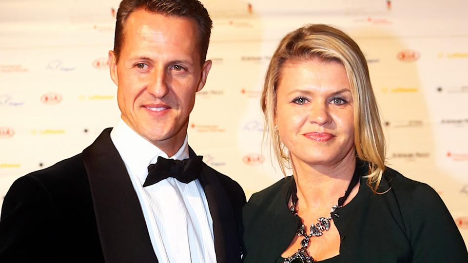 Michael Schumacher, pictured here with wife Corinna in 2012.