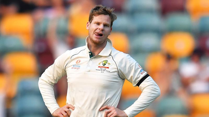 Pictured here, Steve Smith is banned from captaining Australia until April 2020.