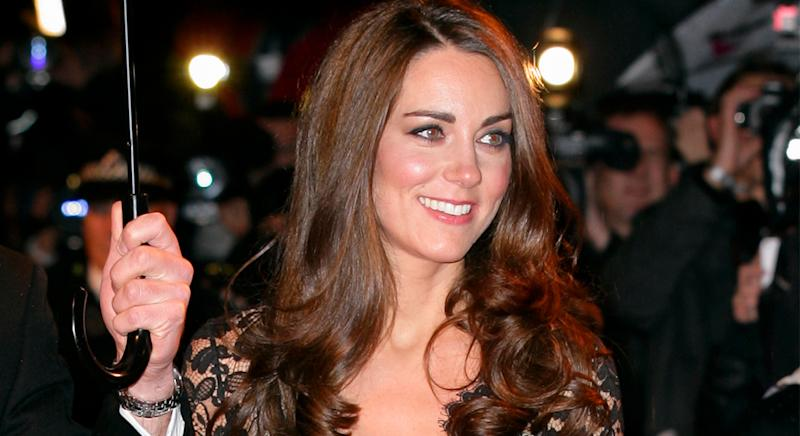 The Duchess of Cambridge has worn Alice Temperley designs numerous times over the years, including to the premiere of War Horse in 2012. (Getty Images)