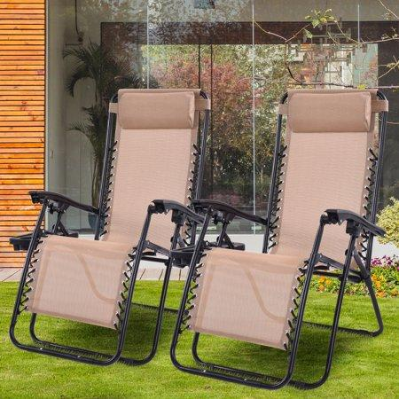 Costway Zero Gravity Lounge Chairs (Walmart / Walmart)