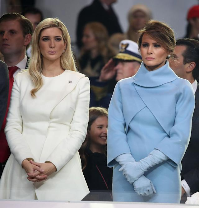 Ivanka and Melania Trump at the 2017 inauguration. (Photo: Mark Wilson/Getty Images)