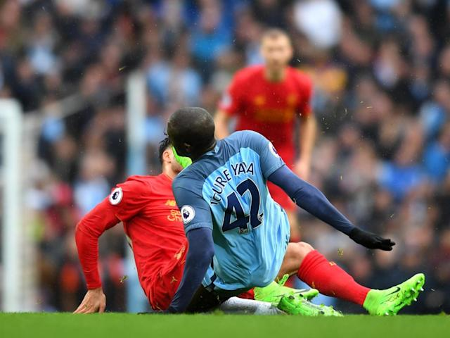 Toure goes in hard on Can (Getty)