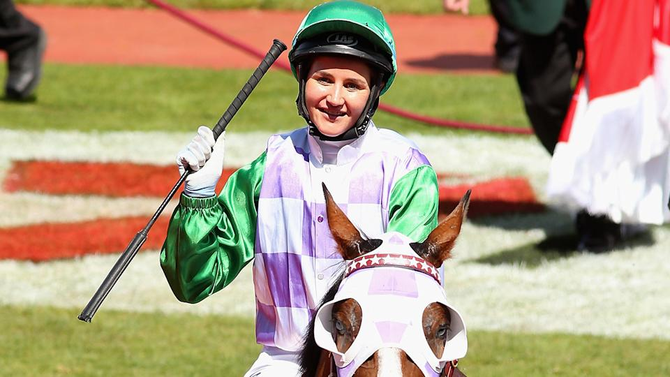 Michelle Payne and Prince of Penzance, pictured here at the 2015 Melbourne Cup.