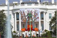 """<p>Answer: The Eisenhower administration in 1958. First Lady Mamie Eisenhower <a href=""""https://www.whitehousehistory.org/press-room/press-timelines/halloween-at-the-white-house"""" rel=""""nofollow noopener"""" target=""""_blank"""" data-ylk=""""slk:decorated the State Dining Room"""" class=""""link rapid-noclick-resp"""">decorated the State Dining Room</a> with hanging skeletons, jack-o'-lanterns, stalks of corn, and more for a luncheon on October 30.</p>"""