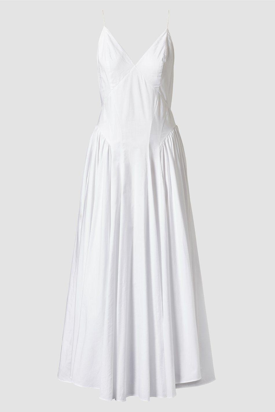 """<p><strong>Tove</strong></p><p>tove-studio.com</p><p><strong>£605.00</strong></p><p><a href=""""https://tove-studio.com/products/maren-organic-cotton-maxi-slip-dress"""" rel=""""nofollow noopener"""" target=""""_blank"""" data-ylk=""""slk:Shop Now"""" class=""""link rapid-noclick-resp"""">Shop Now</a></p><p>Naomi Sims was frequently seen in an elegant white dress, and this number from Tove Studio is surely right up her ally. Dress it up or down to get the look.</p>"""