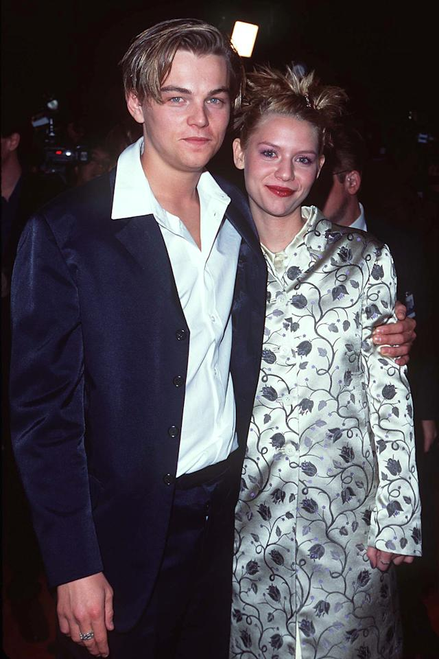 <p>The young lovers of the title posed together at the 'Romeo + Juliet' premiere. Danes was 17 years old when this picture was taken in October, 1996; DiCaprio was 21. (Photo: Steve Granitz/WireImage) </p>