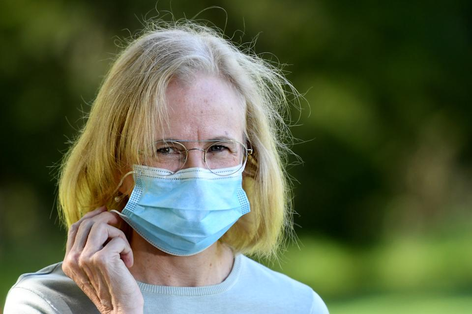 Queensland Chief Health Officer Jeannette Young is seen during a press conference in Brisbane, Friday, April 2, 2021