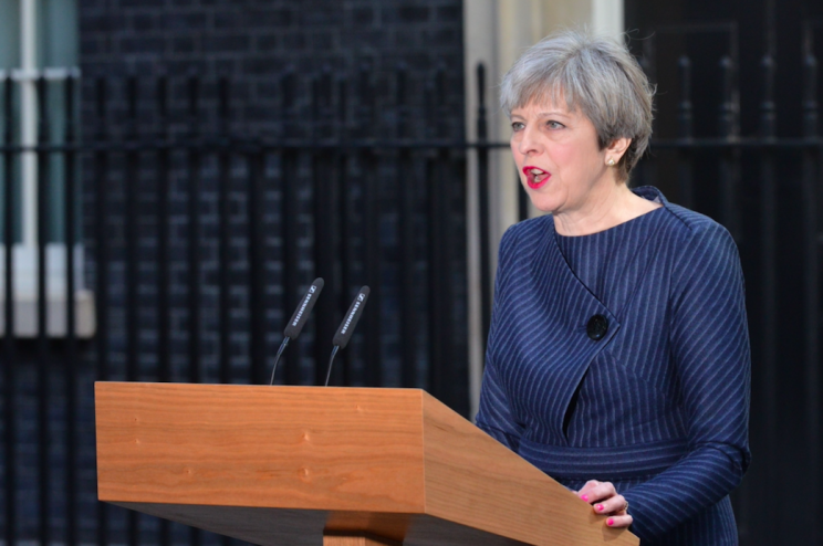 Theresa May has called for a snap general election (Rex)